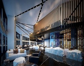 3D model hotel Lobby 01