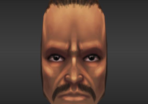 Character Head Hand Paint