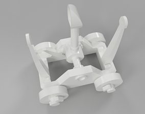 Da Vinci Catapult No Screw Toy 3D model