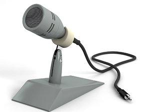 Old microphone 3D