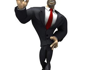 3D Cartoon Muscular Guy Character