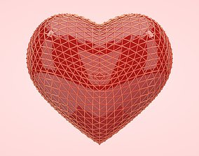 3D model game-ready Netted Heart