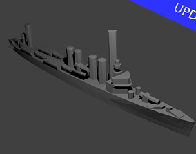 3D print model US Wickes Class Destroyer Warship