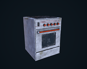 3D model Old Stove