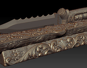 Stand with a knife 3D print model