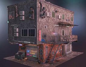 3D asset Cyberpunk house