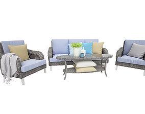 Savona Outdoor Garden Furniture Set 3D