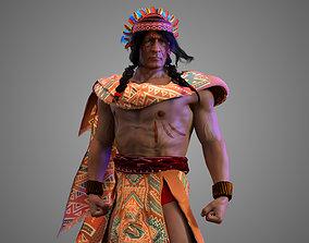 3D Native American Warrior Male