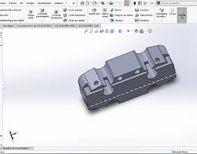 3D print model soporte de correa para prusa i3 eje x