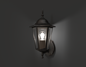 3D model low-poly Antique Outdoor Lamp