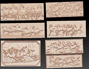 cnc 3D Horses collection