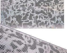 perforated metal panel N17 3D
