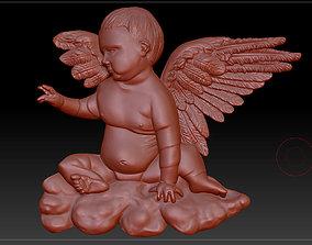 3D model of angel memorial