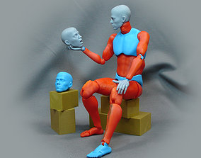 Male anatomical articulated doll 3D printable model