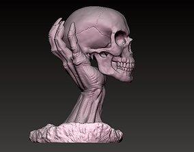 3D print model skull hand