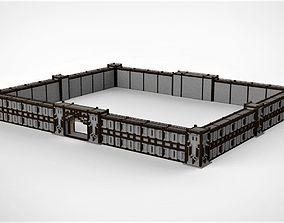 3D asset Medieval Castle Minecraft