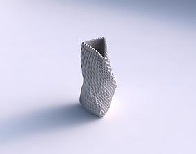 Vase bulky helix with grid piramides 3D print model