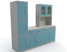 3D Kitchen Cabinet contemporary