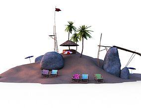 Beach - Little Island 3D model