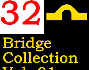 32 Huge Bridge 3D model