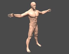 3D model Warrior man base mesh