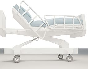 3D model bed Hospital Bed