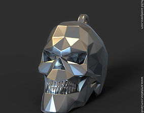 chain Polygonal Skull pendant vol1 for 3d print