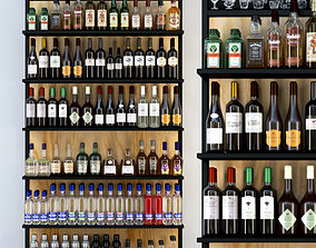 3D model Rack with a large selection of alcohol