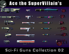 ASV SciFi Guns Volume 02 3D asset