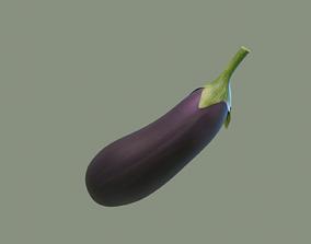 3D model VR / AR ready Eggplant