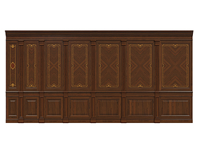 Wood panels with veneer 03 3D model