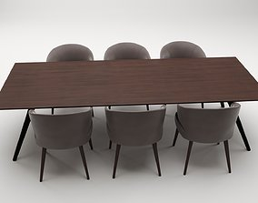 low-poly Meeting Table 3D model