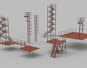 3D Fire ladders and platforms