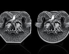 3D printable skull earrings studs 2