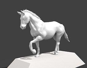 white horse 3D printable model