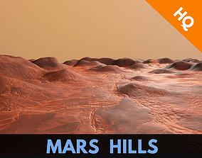 3D model Mars Hills Planet Mountain Terrain Landscape 2