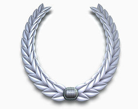 3D Laurel wreath