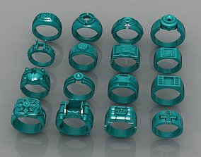 3D print model Ring Collection 16 files