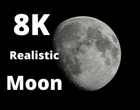 3D 8K Realistic Moon