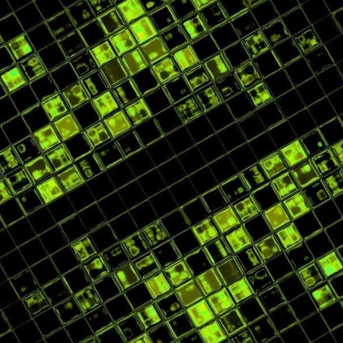 Techno, electronic, alien, binary, system