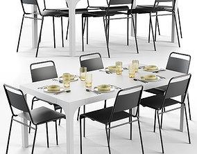 3D model Cb2 Aqua Virgio Dining Table