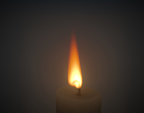 Candle Fire VDB animated 20s 3D model