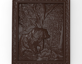 3D print model Bear in the forest bas relief for CNC