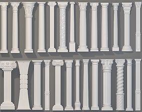 3D Columns Collection -2 - 26 pieces