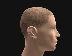 Male Buzz Cut Hairstyle 3D asset game-ready