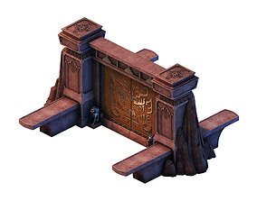 3D Game model - gorgeous stone gate