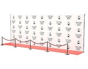 Red Carpet New York Fashion Show 3D asset