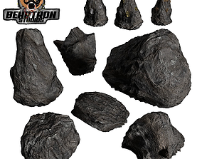 3D model Realistic Hand Made Rocks and Ores Pack 4k 2