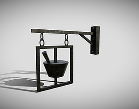 Apothecary Sign 3D model