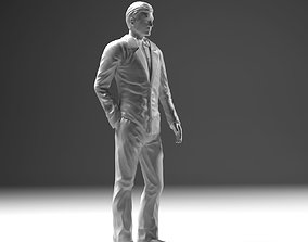 Man In Suit STL 3D print model